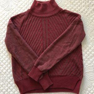 Prana Burgundy Mock-Neck Sweater